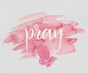 hands, jesus, and pink image
