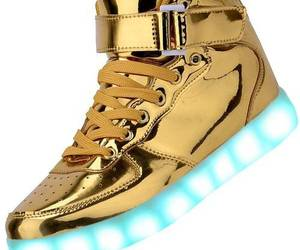 fashion, high top, and led shoes image
