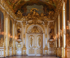gold, versailles, and architecture image