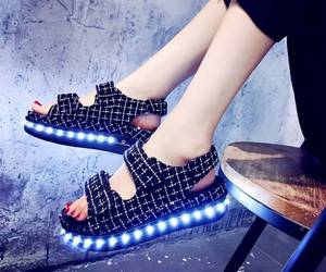 fashion, night, and led shoes image