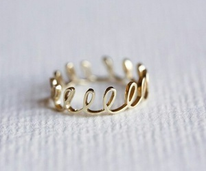 gold, ring, and fashion image
