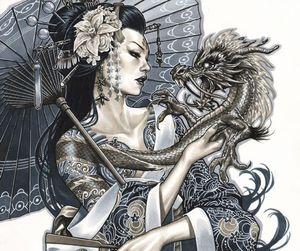 dragon and tattoo image