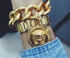 Versace, gold, and luxury image