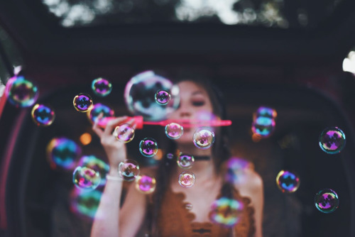 bubbles, photography, and hipster image