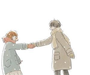 anime boy, cute, and love image