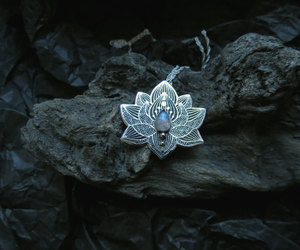 beautiful, moonstone, and necklace image