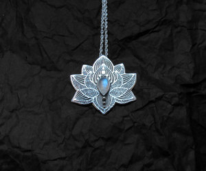 etsy, silver necklace, and jewelry image