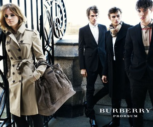 Burberry, emma watson, and douglas booth image