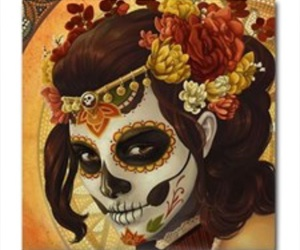 dia de muertos, halloween costume, and makeup image