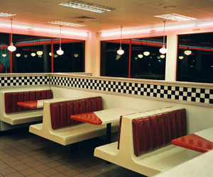 diner, retro, and vintage image
