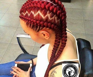 braids and red image