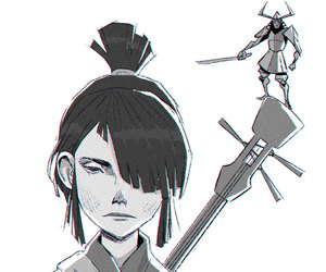 samurai, squetch, and kubo image
