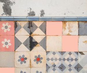 pastel, tiles, and wall image