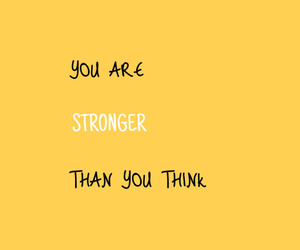quotes, yellow, and strong image