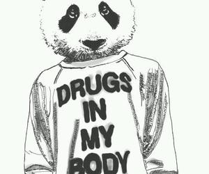 drugs, panda, and body image