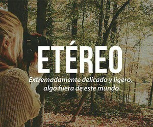 words, Étereo, and delicate image