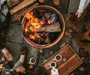 bonfire and fall image