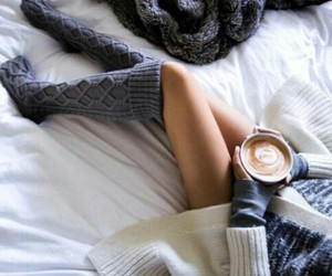 coffee, socks, and cozy image