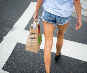 girl, shorts, and clothes image