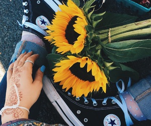 converse, farmers market, and flower image