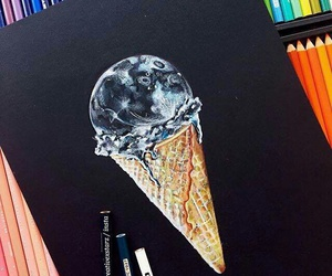 drawing, art, and ice cream image