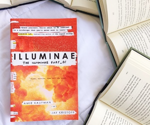 books, reading, and illuminae image