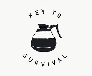key to survival coffee image