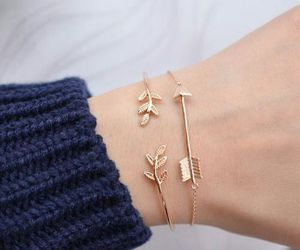 bracelet, accessories, and gold image