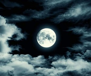 clouds, moonlight, and night image