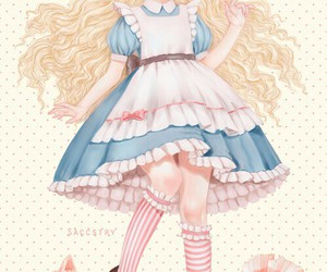 saccstry, alice, and alice in wonderland image