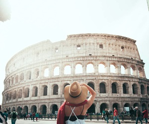 travel, rome, and girl image