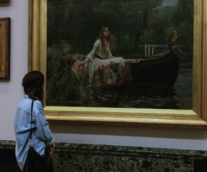 art, girl, and lady of shalott image