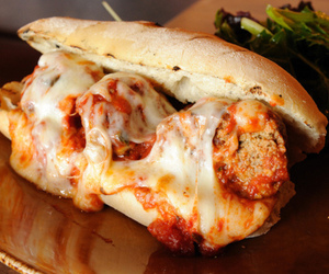 cheese, food, and meatball image
