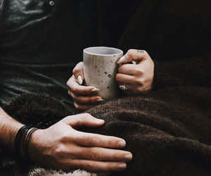 couple, coffee, and brown image