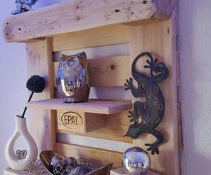 pallet shelves, pallet shelf ideas, and pallet shelf designs image