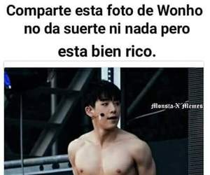 kpop, wonho, and español image