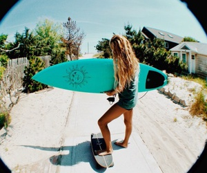 surf, girl, and summer image