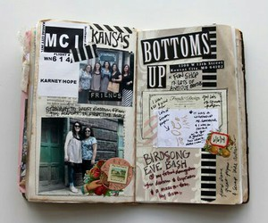 art, journal, and diary image