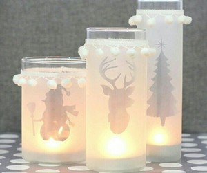 candles, christmas, and crafts image