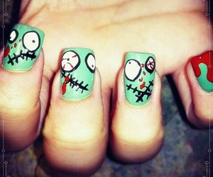 Halloween, nail art, and nails image