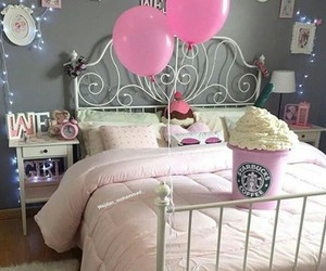 room, starbucks, and pink image