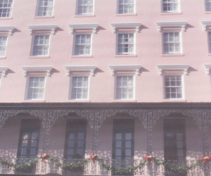 pink, building, and hotel image