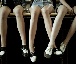 shoes, legs, and oxford image