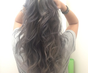 curly, hair, and silver image