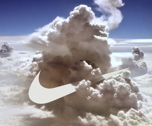 clouds, sky, and nike image