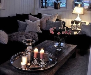 home, candle, and room image