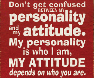attitude, personality, and quotes image