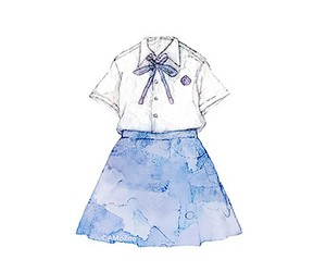 blue, illustration, and kawaii image