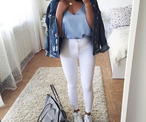 blue, fashion, and sexy image