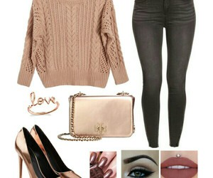 high heels, makeup, and outfits image
